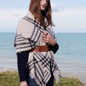 Sezane Plaid scarf New but no tags.